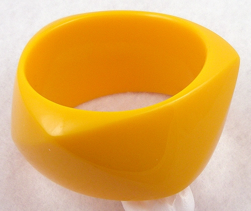 Bracelets - Marigold Yellow Lucite Bangle
