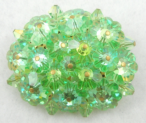 Brooches - Light Green Margarita Crystal Brooch