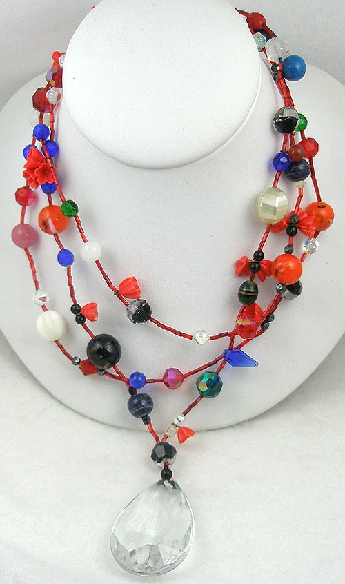 Necklaces - Artisan Glass Bead Necklace