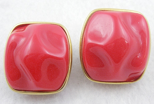 Kirk, Alexis - Alexis Kirk Chunky Red Earrings