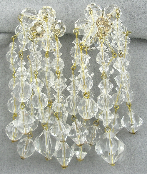 Bridal, Wedding, Special Occasion - Crystal Bead Chandelier Earrings