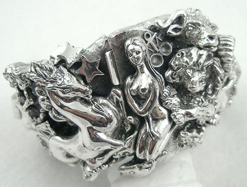 Zodiac - Tortolani Zodiac Silver Clamper Bracelet