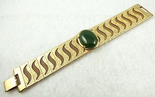 Bracelets - Mesh Panel Jade Glass Bracelet