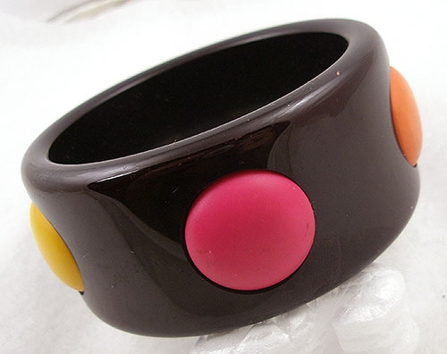 Bracelets - Raised Dot Plastic Bangle Bracelet
