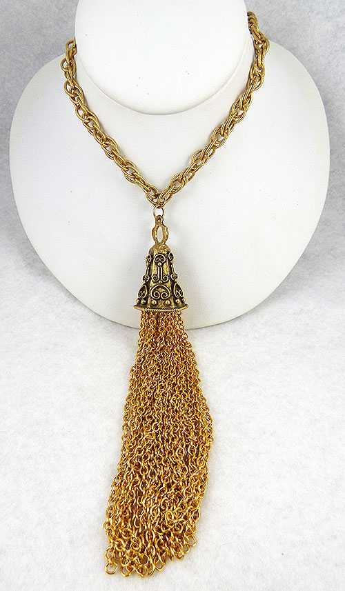 Necklaces - Tortolani Crislu Gold Tassel Necklace