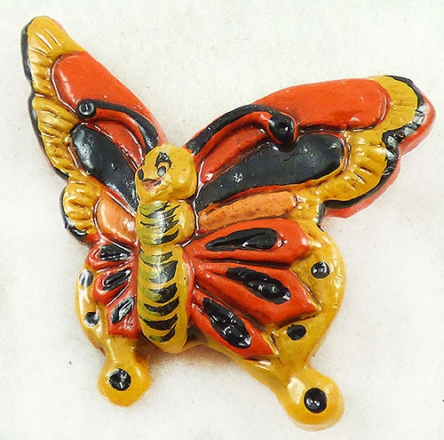 Newly Added Pop Art Resin Butterfly Brooch
