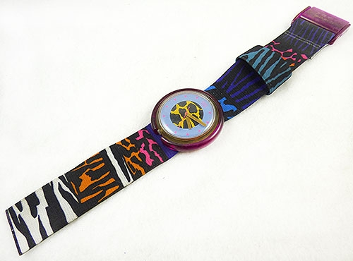 Watches & Accessories - 1990 Jungle Roar Pop Swatch Watch