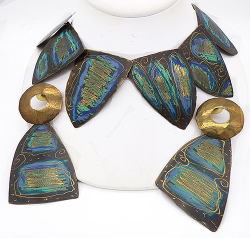 Newly Added Hand Crafted Brass Boho Necklace Set