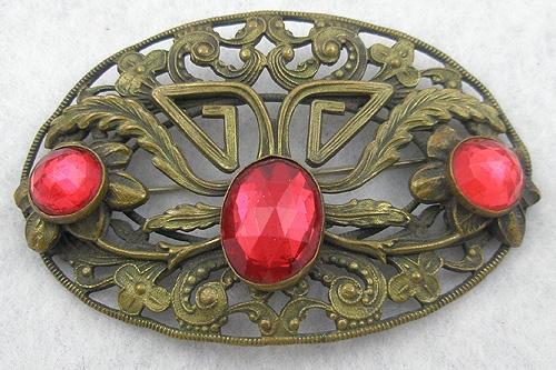 Art Nouveau - Art Nouveau Sash Pin
