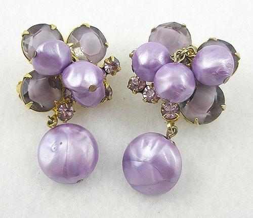 DeLizza & Elster/Juliana - DeLizza & Elster Lavender Earrings