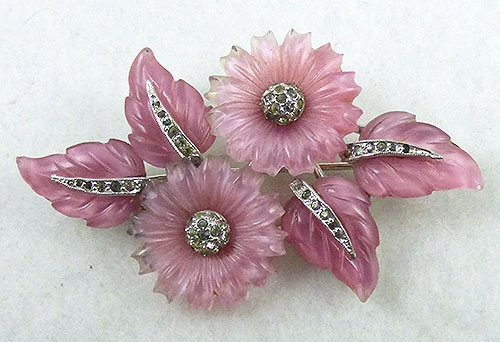 Mazer/Jomaz - Mazer Pink Fruit Salad Flowers Brooch