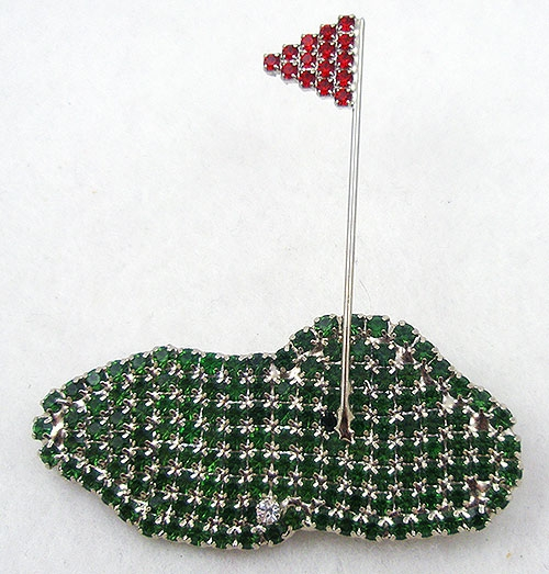 Misc. Signed A-F - Dorothy Bauer Putting Green Brooch