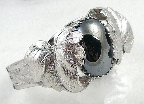 Whiting & Davis - Whiting and Davis Hematite Hinged Bracelet