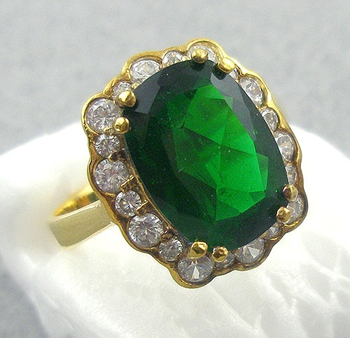 Misc. Signed M-R - PJM Sterling and Emerald CZ Ring