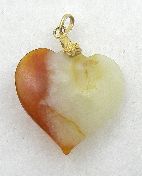 Necklaces - Agate Heart Pendant