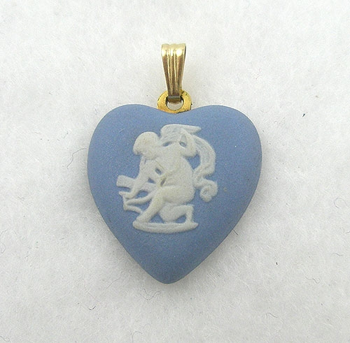 Necklaces - Wedgwood Heart Pendant