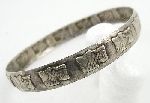 Bracelets - Sterling Scottie Dogs Bangle Bracelet