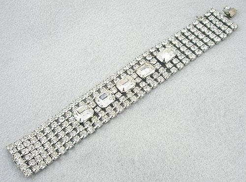 Bridal, Wedding, Special Occasion - Weiss Wide Rhinestone Bracelet