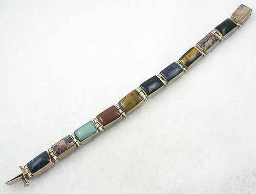 Mexico - Mexican 950 Silver Reversible Onyx Bracelet
