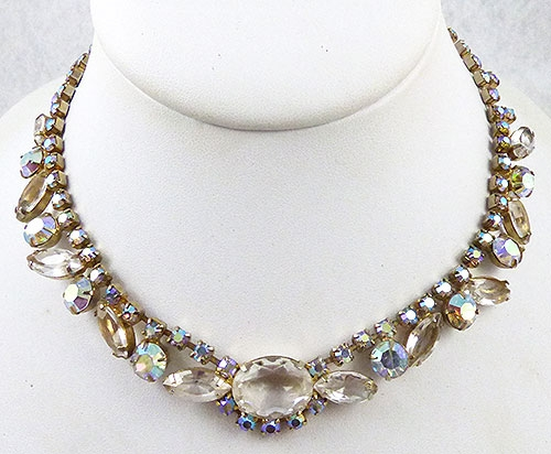 Necklaces - Aurora Borealis Rhinestone Necklace