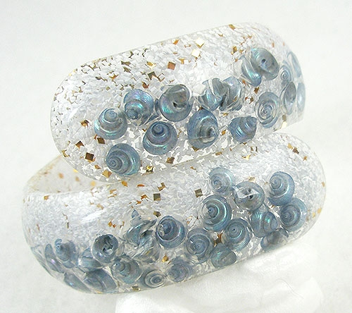Bracelets - Lucite Confetti Clamper