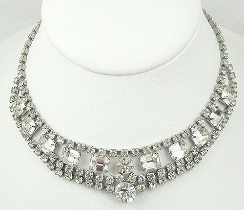 Necklaces - Vintage Rhinestone Necklace