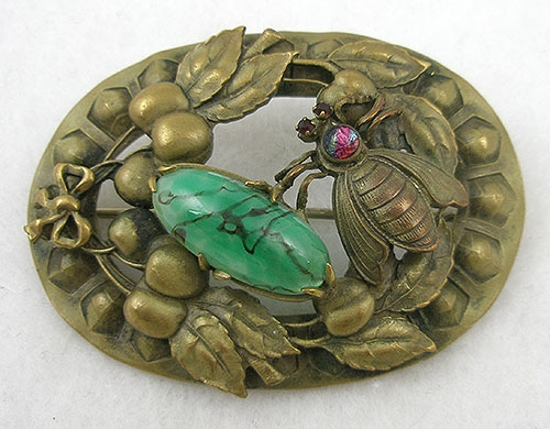 Brooches - Geroge Steere Art Nouveau Bee Sash Pin