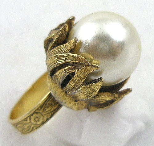 Pearl Jewelry - Vintage Faux Pearl Cocktail Ring