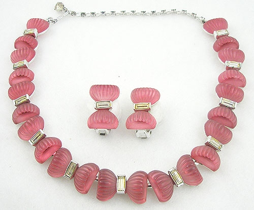 Sets & Parures - Kramer Pink Bows Necklace Set