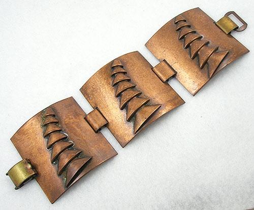 Mid-Century Modern - Vintage Wide Copper Bracelet