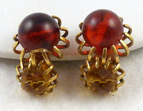Castlecliff - Castlecliff Topaz and Amber Earrings