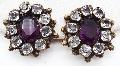 Newly Added Joseff of Hollywood Amethyst Earrings