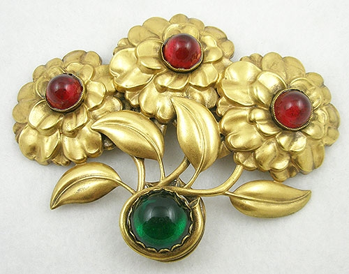 Florals - Joseff of Hollywood Chrysanthemum Brooch