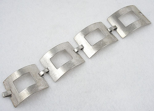 Mexico - Vintage Mexican Sterling Square Link Bracelet