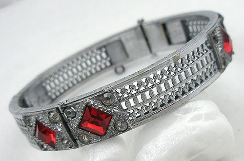 A.L.L.Co - A.L. Lindroth Filigree Hinged Bangle