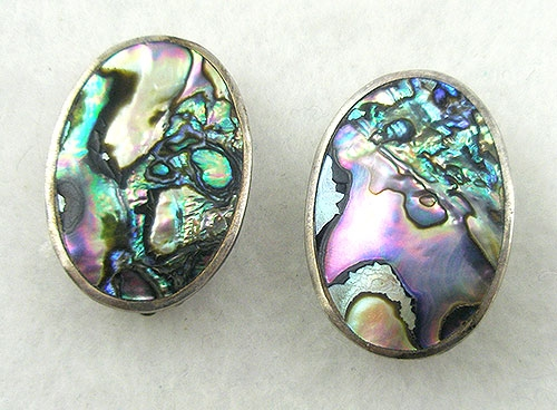 Natural Shell - Mexican Alpaca Abalone Earrings