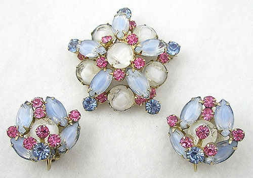 DeLizza & Elster/Juliana - DeLizza & Elster Givre Glass Brooch Set