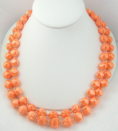 Japan - Japan Tangerine Satin Beads Necklace