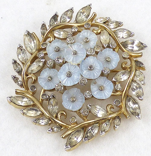 Mazer/Jomaz - Jomaz Blue Moonstone Fruit Salad Flowers Brooch