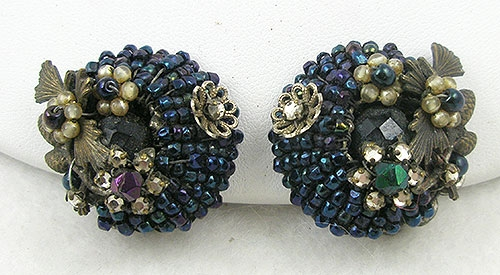 Jonné/Schrager - Jonné Blue Seed Bead Earrings
