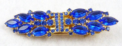 Brooches - DeLizza and Elster Blue Duet Clips Brooch