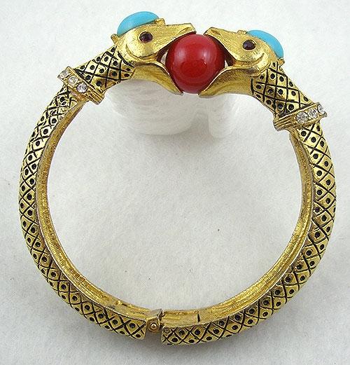 Figural Jewelry - Snakes Turtles Reptiles - Florenza Snake Bracelet
