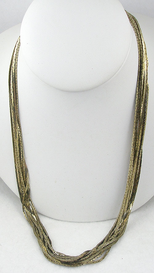 Necklaces - Vintage 10 Gold Chain Necklace