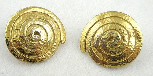 Earrings - Monet Spiral Earrings