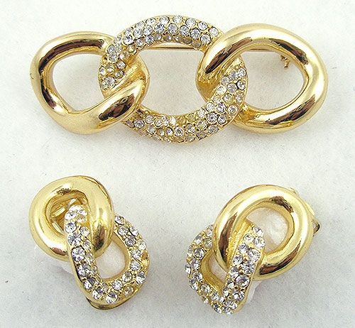 Sets & Parures - Vintage Christian Dior Brooch Set