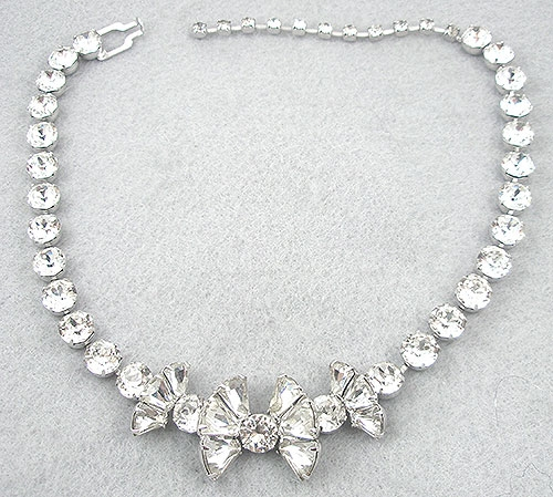 Necklaces - Eisenberg Rhinestone Bow Necklace
