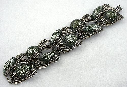 Confetti Plastic Jewelry - Olive Confetti Lucite Bracelet