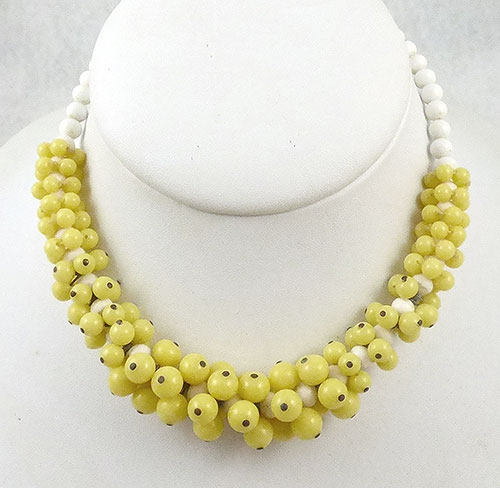 Japan - Japan Yellow Glass Beads Necklace