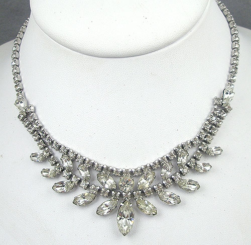Bridal, Wedding, Special Occasion - Ledo Rhinestone Necklace