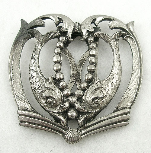 Dress & Fur Clips - Silver Fish Dress Clip